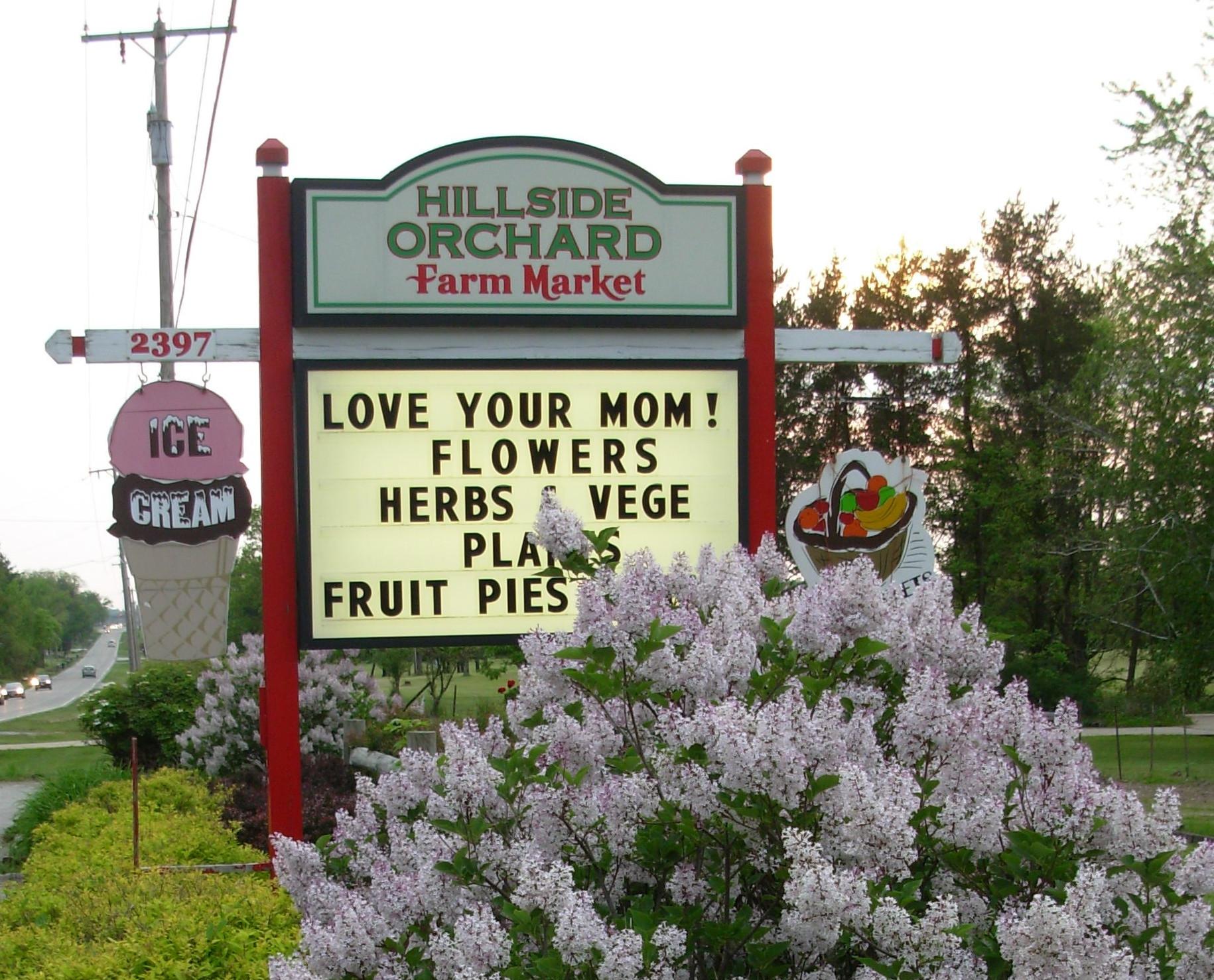 Hillside Farm Fresh Street Sign
